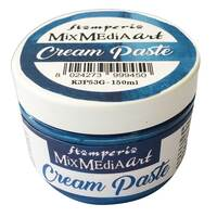 Stamperia Cream Paste metallic 150 ml Blue