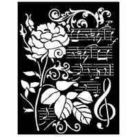 Stamperia - Rose and Music 0.25mm - 20 x 25cm