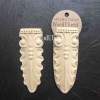 WoodUBend Corbel Leaves WUBX1006 13x5cm - Pack of Two