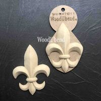 WoodUBend Pack of Two Fleur-De-Lis WUBX1011 10.2 x 7.6cms