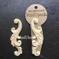 WoodUBend Pack of Two Leafy Scrolls WUB2437 10.5 x 11cms